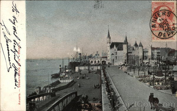 Harbor and Quay Anvers Belgium Benelux Countries