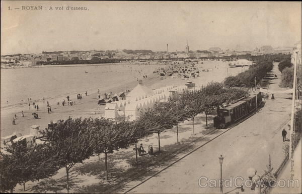 Bird's Eye View of Beach Royan France