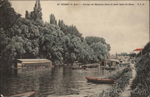 Boat Houses on the Seine Poissy France