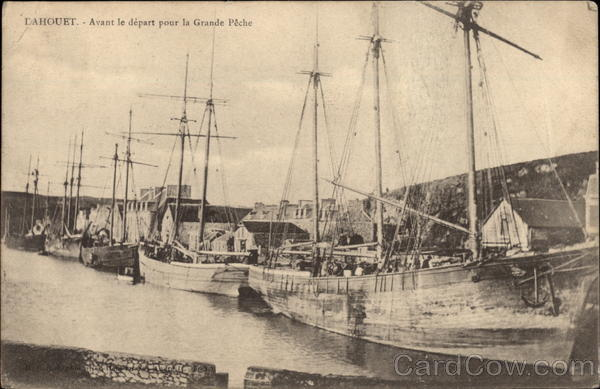 Fishing Boats in Harbor Dahouet France