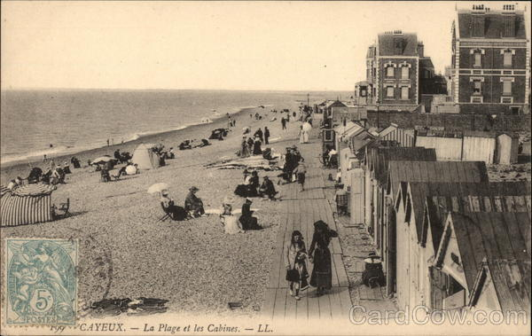 Beach and Beach Huts Cayeux France