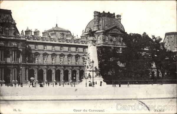 Cour du Carrousel Paris France