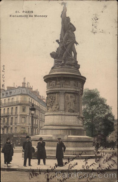 Monument du Moncey Paris France
