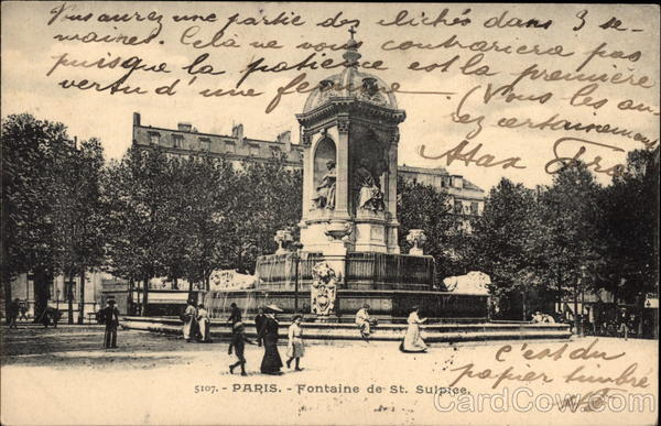 Fontaine de St. Sulpice Paris France