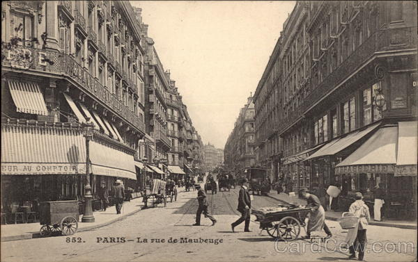 La Rue de Maubeuge Paris France