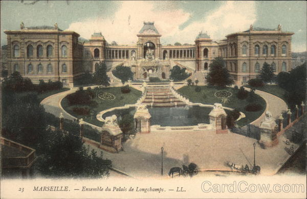 Ensemble du Palais de Longchamps Marseille France