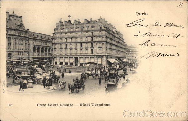 Gare Saint-Lazare and Hotel Terminus Paris France