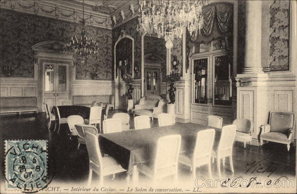 Interieur du Casino - Le Salon de Conversation Vichy France