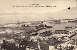 Dockyard and View of Harbour Postcard
