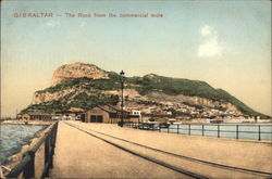 The Rock from the Commercial Mole Postcard