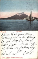 Bay of Naples With View of Mount Vesuvius Postcard
