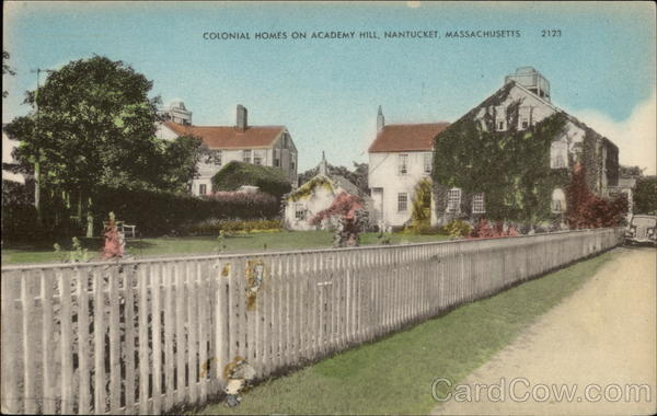 Colonial Homes on Academy Hill Nantucket Massachusetts