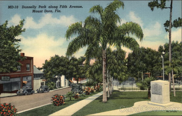 Donnelly Park along Fifth Avenue Mount Dora Florida