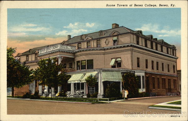Boone Tavern Hotel, of Berea College Kentucky