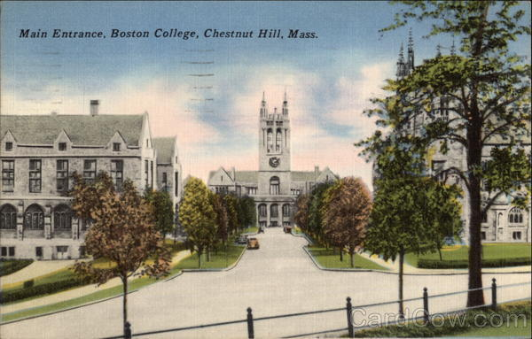 Main Entrance, Boston College Chestnut Hill Massachusetts