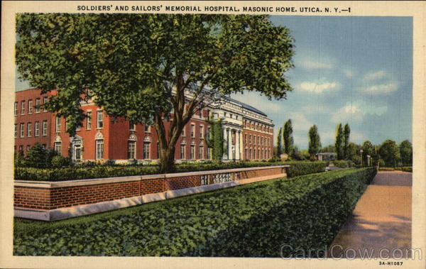 Soldiers' and Sailors' Memorial Hospital, Masonic Home Utica New York