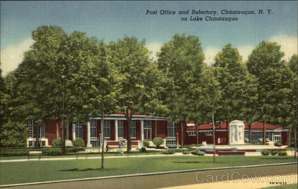 Post Office and Refectory, on Lake Chautauqua New York