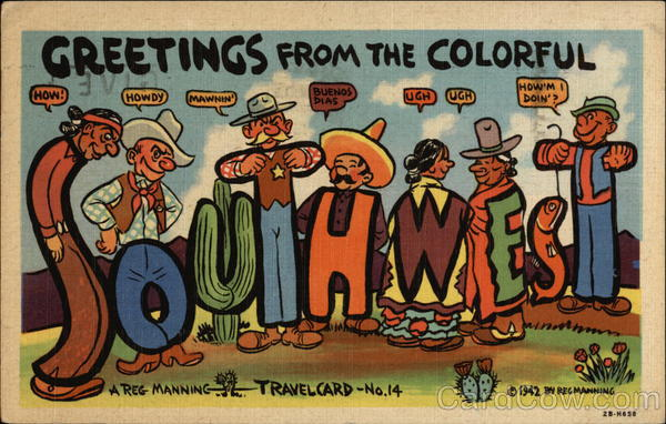 Greetings from the Colorful Southwest Large Letter