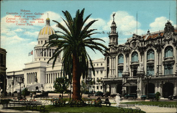 Central Capitol Building and Gallego's Club Havana Cuba