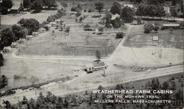 Aerial View of Weatherhead Farm Cabins on the Mohawk Trail Millers Falls Massachusetts