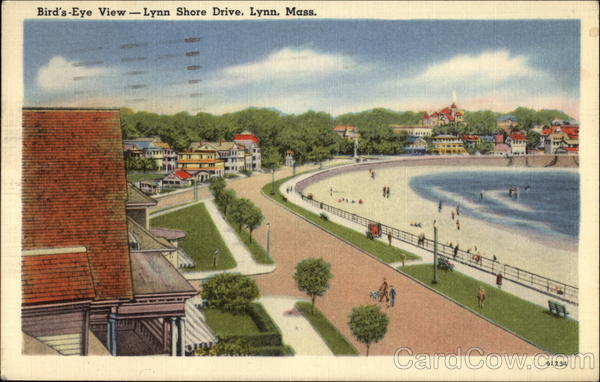 Bird's-Eye View -- Lynn Shore Drive Massachusetts