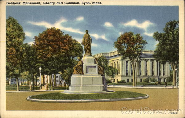 Soldiers' Monument, Library and Common Lynn Massachusetts