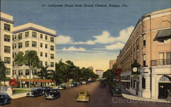 Lafayette Street from Grand Central Tampa Florida