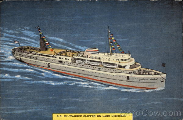 SS Milwaukee Clipper on Lake Michigan Boats, Ships