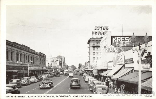 10th Street, looking north Modesto California