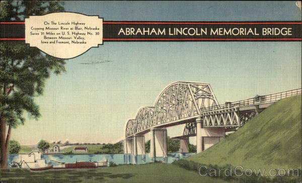 Abraham Lincoln Memorial Bridge Blair Nebraska