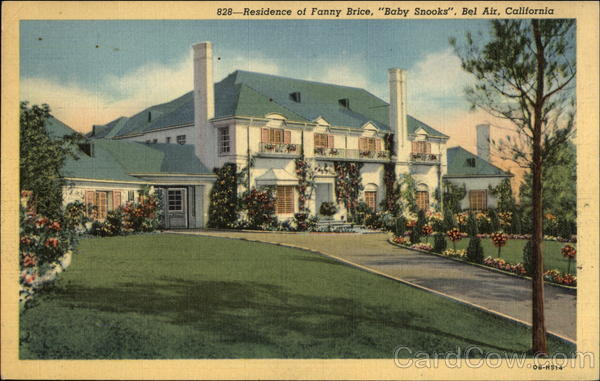 Residence of Fanny Brice, Baby Snooks Bel Air California