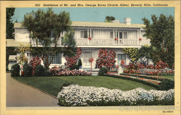 Residence of Mr. and Mrs. George Burns (Gracie Allen) Beverly Hills California