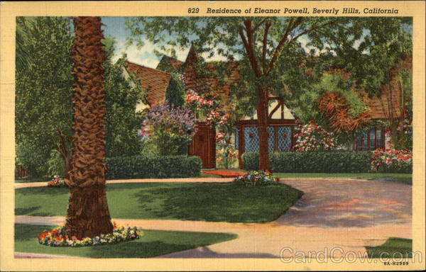 Residence of Eleanor Powell Bevery Hills California
