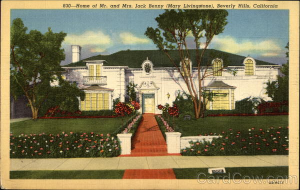 Home of Mr. & Mrs. Jack Benny (Mary Livingstone) Beverly Hills California