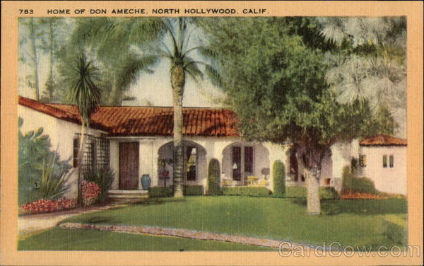 Home of Don Ameche North Hollywood California