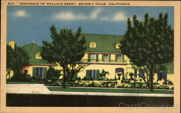 Residence of Wallace Beery Beverly Hills California