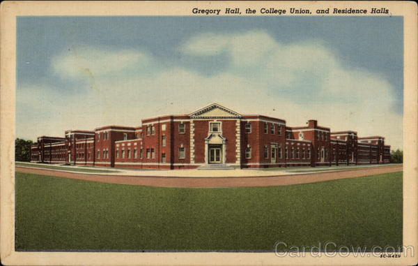 Gregory Hall, College Union and Residence Halls - State Teachers College Fredonia New York