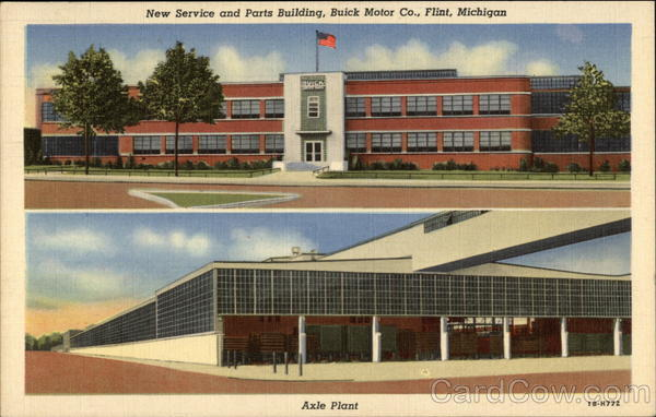 New Service and Parts Building, Buick Motor Co Flint Michigan