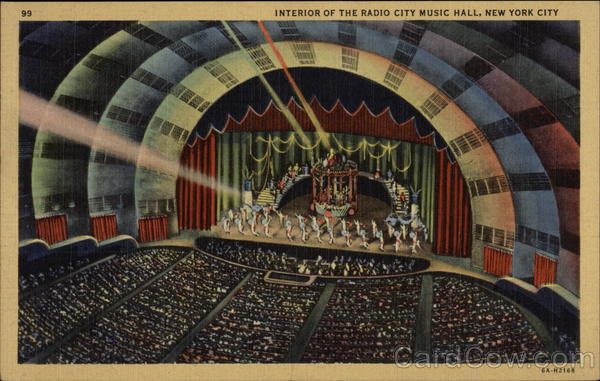Interior of the Radio City Music Hall New York