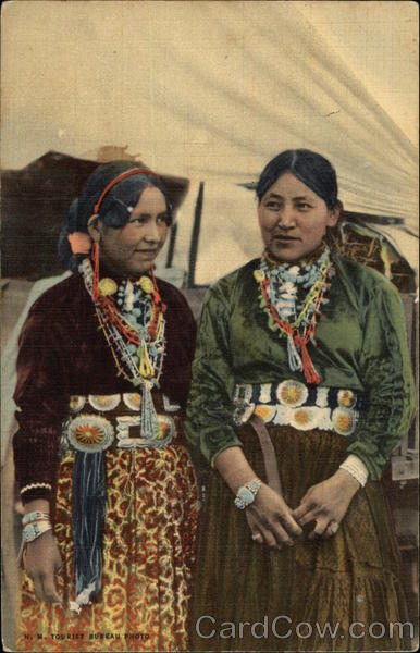 Navajo Women Dressed in Their Finest Native Americana