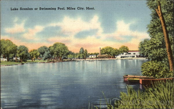 Lake Scanlan or Swimming Pool Miles City Montana