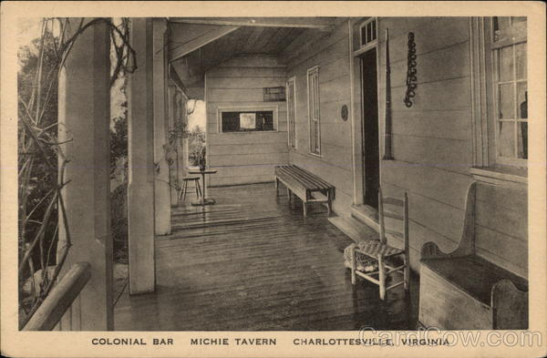 Colonial Bar, Michie Tavern Charlottesville Virginia