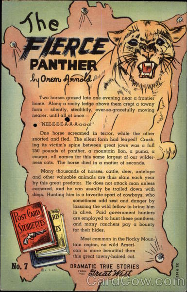 Dramatic True Stories From the Great West - The Fierce Panther