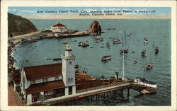 New Catalina Island Yacht Club, showing Sugar Loaf Casino in Background, Avalon
