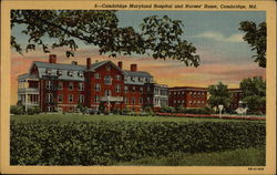Cambridge Maryland Hospital and Nurses Home
