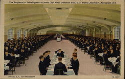 The Regiment of Midshipmen at Noon Day Meal, Bancroft Hall, U. S. Naval Academy