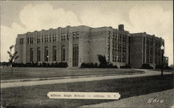 Albion High School Postcard