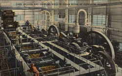Cane Crusher and Grinding Rolls in Sugar House Postcard