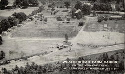 Aerial View of Weatherhead Farm Cabins on the Mohawk Trail