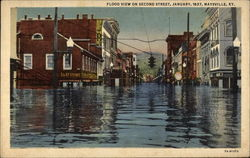 Flood View on Second Street, January 1937 Maysville, KY